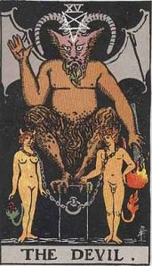 The Devil Card -- Rider Waite Deck