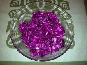 Cabbage Slaw with ACV and Birch Sweetener