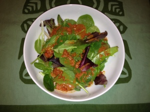 Spring Greens with Goji Balsamic Dressing