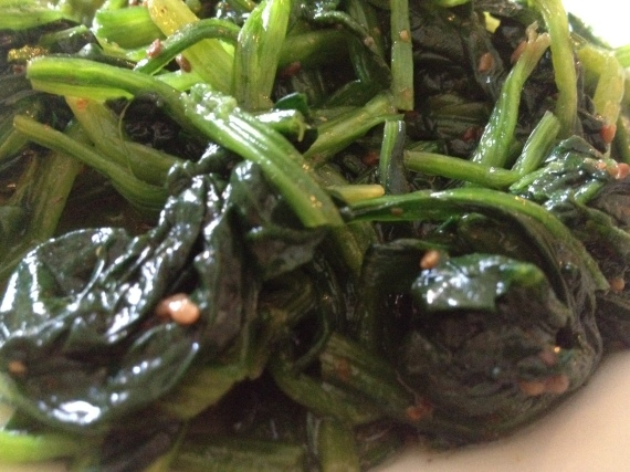 Sunny's Spinach (lightly braised)