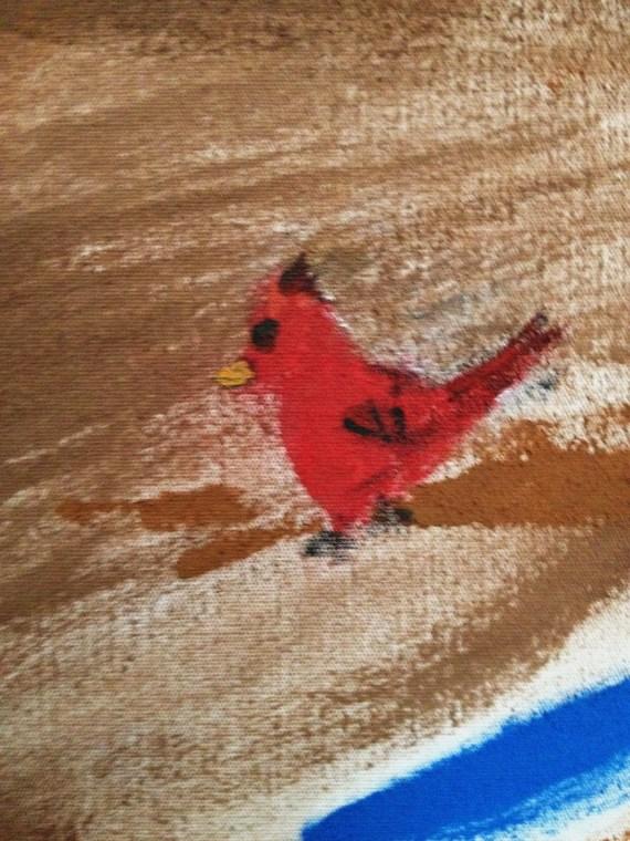 Cardinal on the World Tree