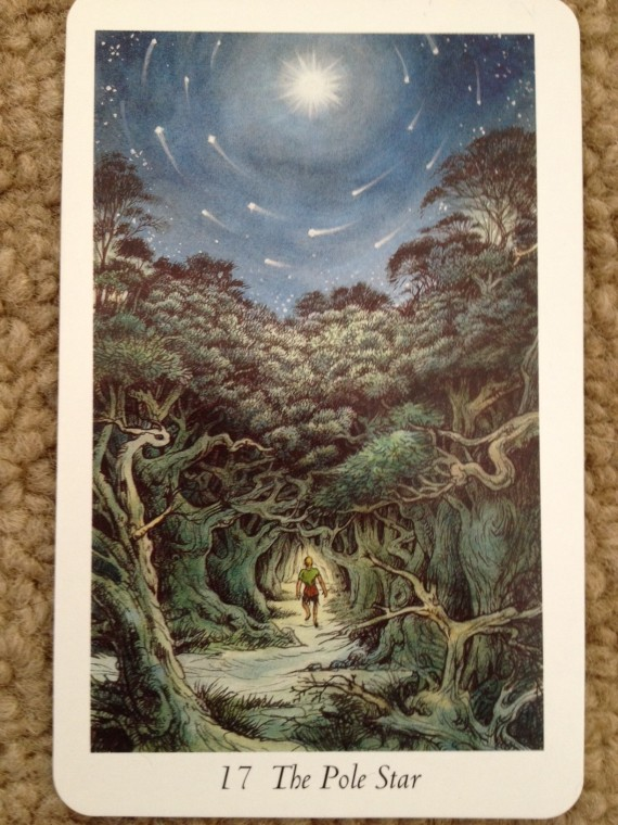 The Pole Star (#17 from the Wildwood Tarot)