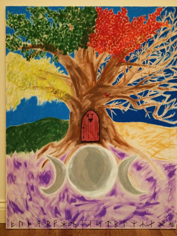 The World Tree and the Norns by Laura Bruno