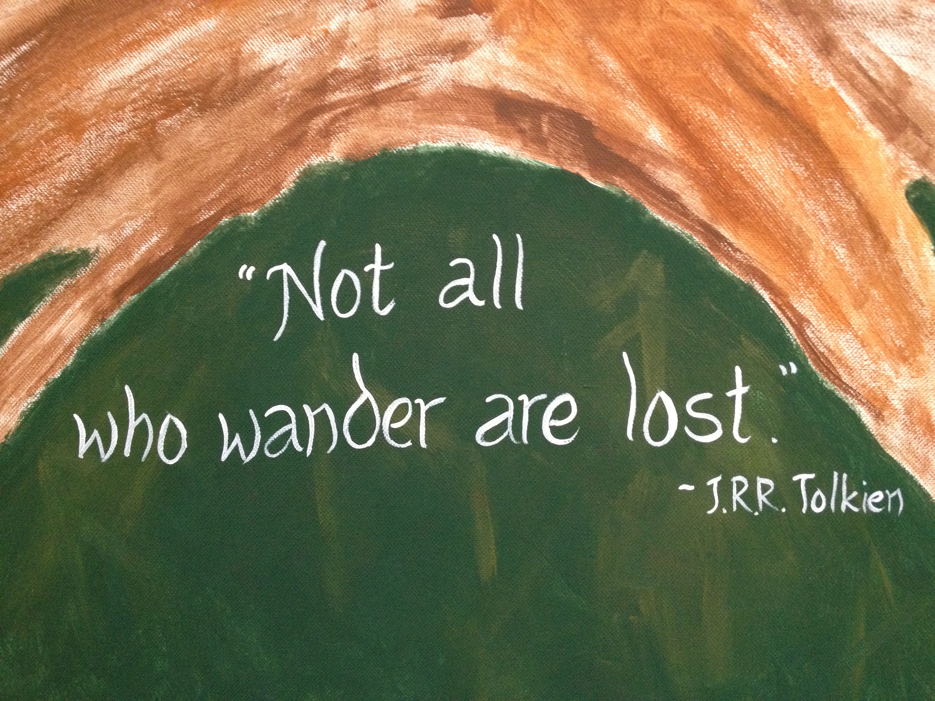 "Door Number 16: ""UR~Not All Who Wander Are Lost"" 