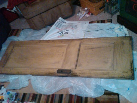 Before Picture of the Four of Wands/Karuna Door