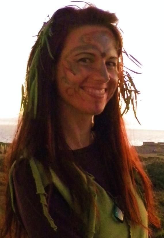 Laura Bruno, wild and free on Halloween 2009