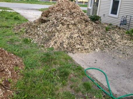 Our third batch of free mulch