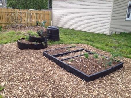 More Raised Beds and the Compost Bin