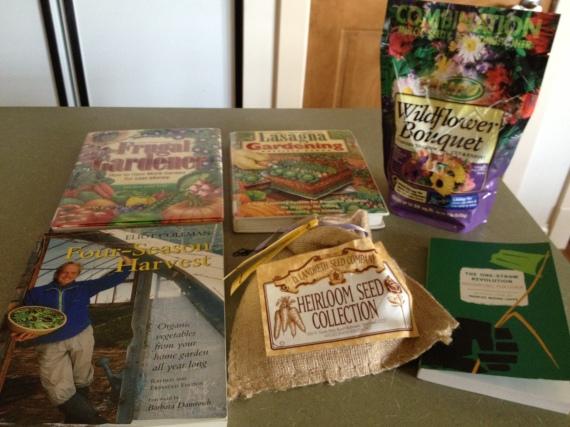 The Frugal Gardener, Lasagna Gardening, Four Season Harvest, The One-Straw Revolution