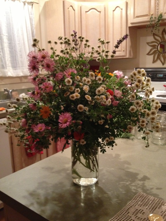 A bouquet I made last night for David's mom.
