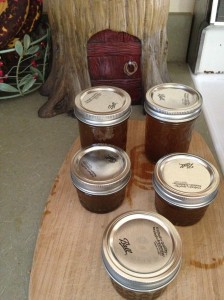 still hot from the pot, freshly canned lavender infused dandelion preserves