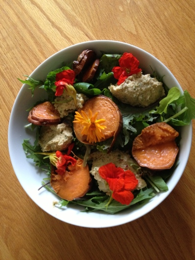 Sweet Potato and Flower Salad 4