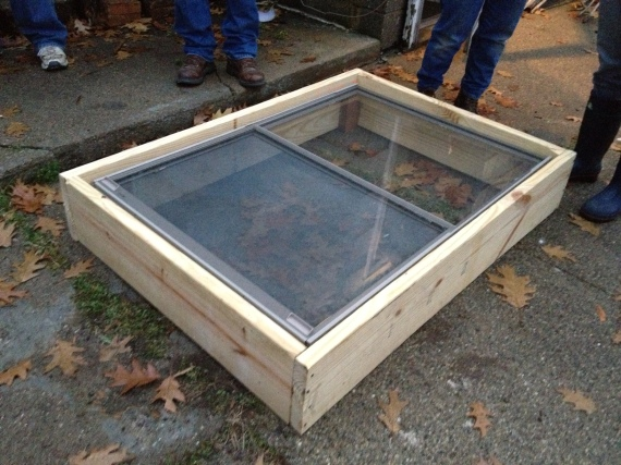 finished cold frame with vent