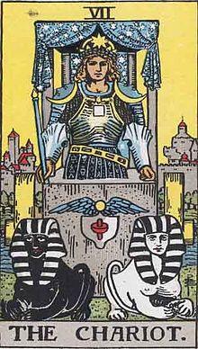 Rider-Waite-Smith deck, Chariot card