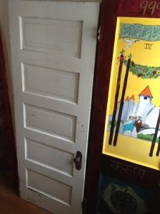 Door 17 Before, standing next to Door Number 4