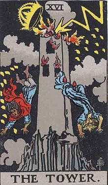 Rider-Waite-Smith Tarot deck, Tower Card