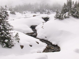 Frozen stream on the Continental Divide