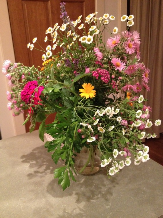 This bouquet came from our yard last Fall.