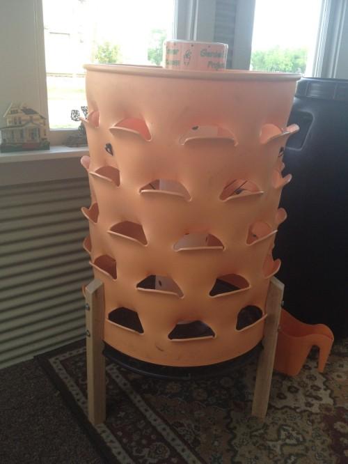 recently assembled Garden Tower