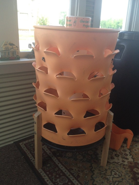 recently assembled Garden Tower