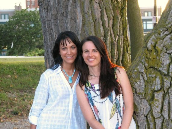 "Tania Marie and me with ""Tree"" in 2010"