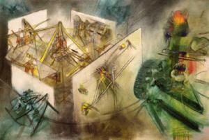 The Unthinkable, by Roberto Matta (11/11/1911 –  11/23/ 2002)