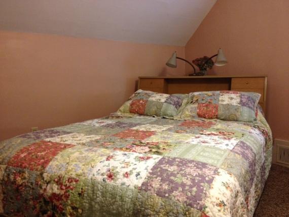 back bedroom bed