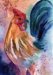 Painting of Anasazi Rooster